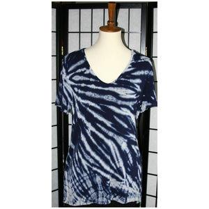 Women's Tryst Rayon Short Sleeve Hi- Lo Hem Tunic